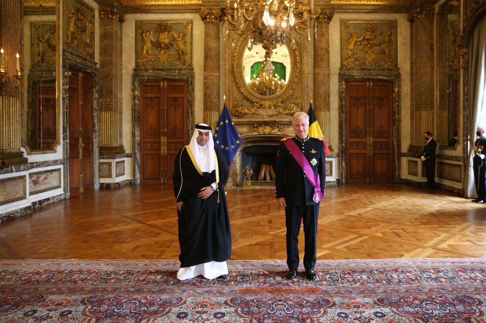 ملك بلجيكا يتسلم أوراق اعتماد سفير دولة قطر