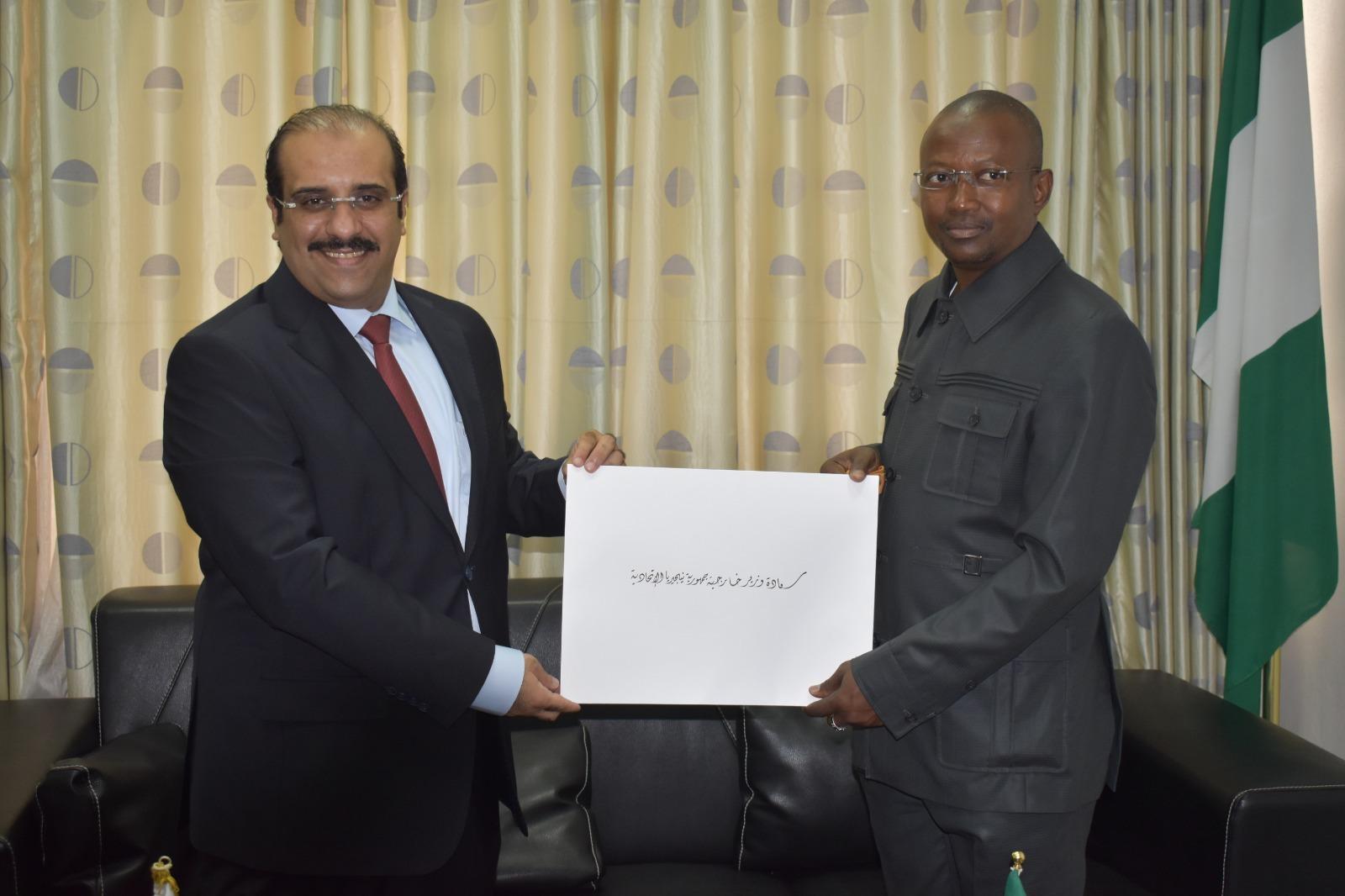 الخارجية النيجيرية تتسلم نسخة من أوراق اعتماد سفير دولة قطر