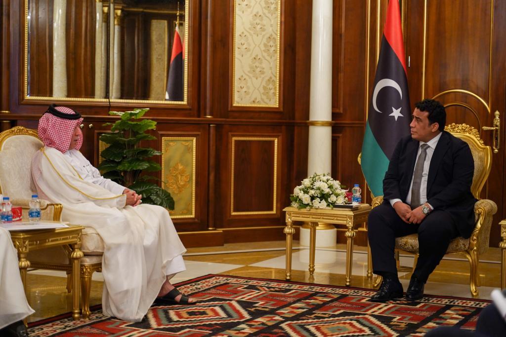 رئيس المجلس الرئاسي الليبي يجتمع مع وزير الدولة للشؤون الخارجية