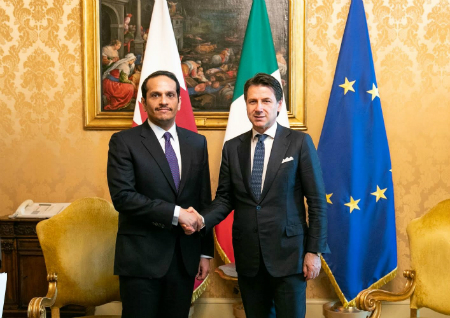 Deputy Prime Minister and Minister of Foreign Affairs Meets Italian Prime Minister