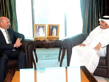 مساعد وزير الخارجية لشؤون التعاون الدولي يجتمع مع نائب وزير خارجية ألبانيا
