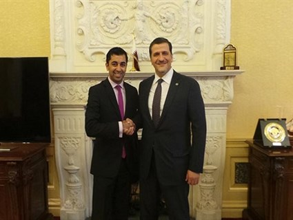 Qatar's Ambassador to UK Meets Scottish Minister for External Affairs