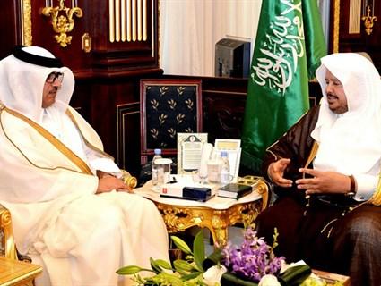 Speaker of Saudi Advisory Council Meets Qatari Ambassador
