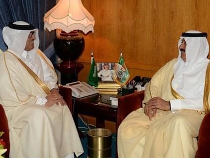 Saudi Minister of National Guard Meets Qatari Ambassador