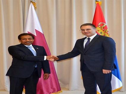 Serbia's Minister of Internal Affairs Meets Qatari Ambassador