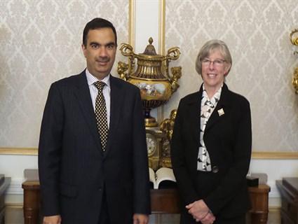 Canadian Governor Meets Qatari Ambassador