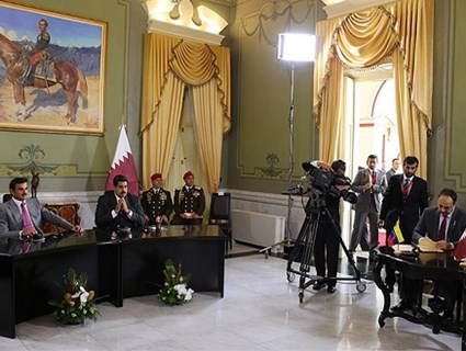 HH the Emir, Venezuelan President Witness Signing of Agreements