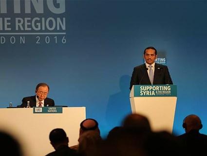 سعادة وزير الخارجية يؤكد دعم دولة قطر للشعب السوري